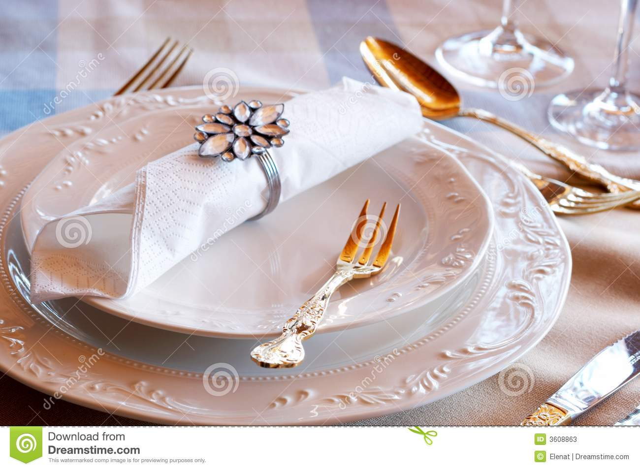 Beautiful Table Setting Stock Photos Image 3608863