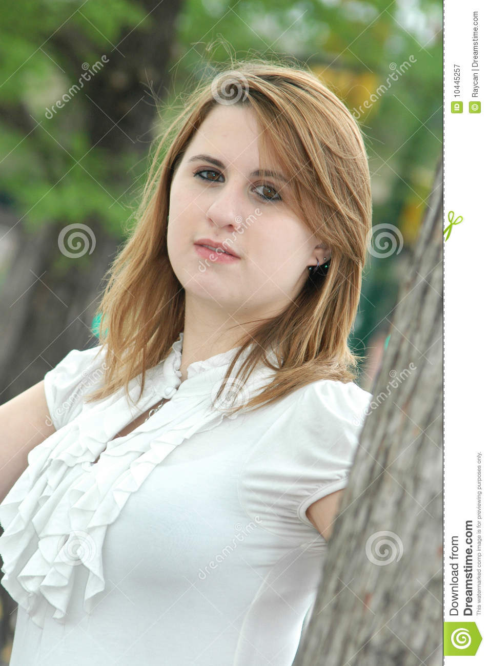 Beautiful Teen Girl Stock Image. Image Of Green, Copy