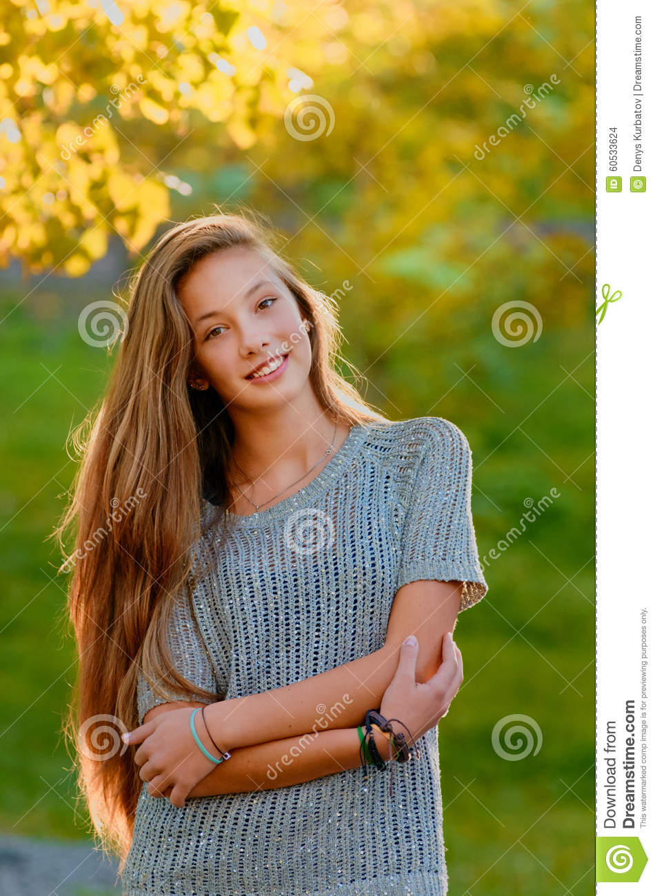 Beautiful Teen Girl In The Autumn Fall Stock Photo - Image ... on Beautiful Teen Girl  id=33409