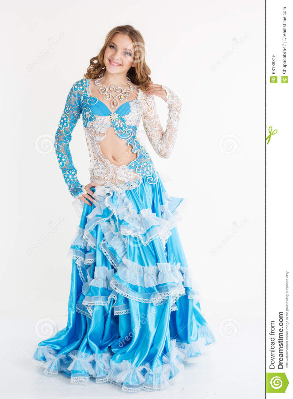 bd9d847066f07 Beautiful Teen Girl Belly-dancer Isolated On White Stock Image ...