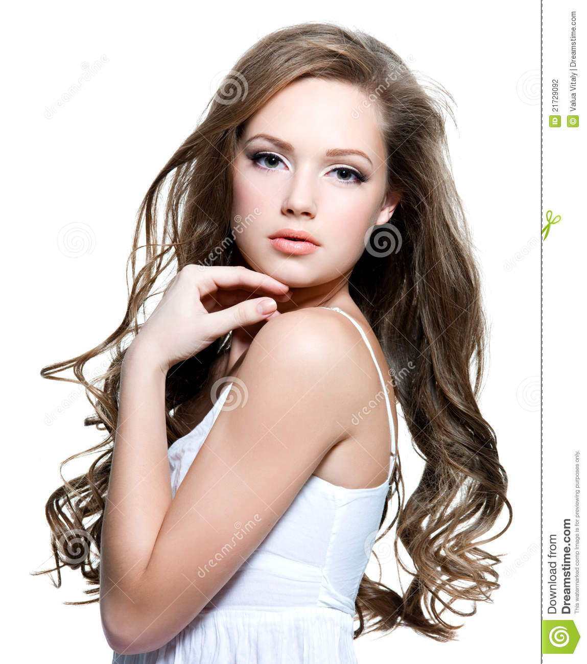 Beautiful Teen Girl With Long Curly Hairs Stock Photo ... on Beautiful Teen Girl  id=72008