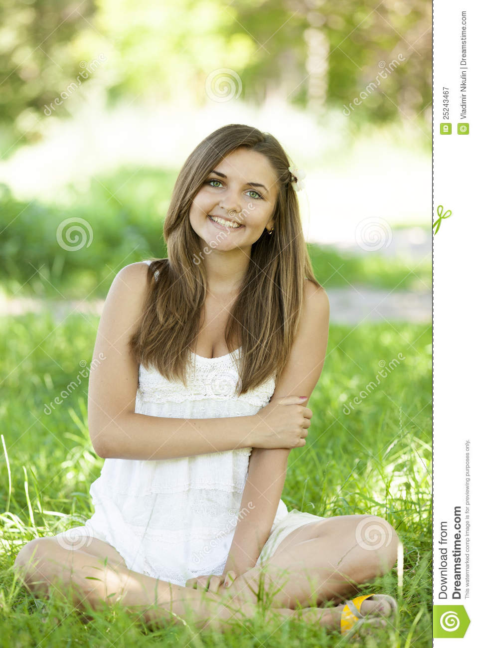 Beautiful Teen Girl In The Park At Green Grass. Royalty ... on Beautiful Teen Girl  id=19080