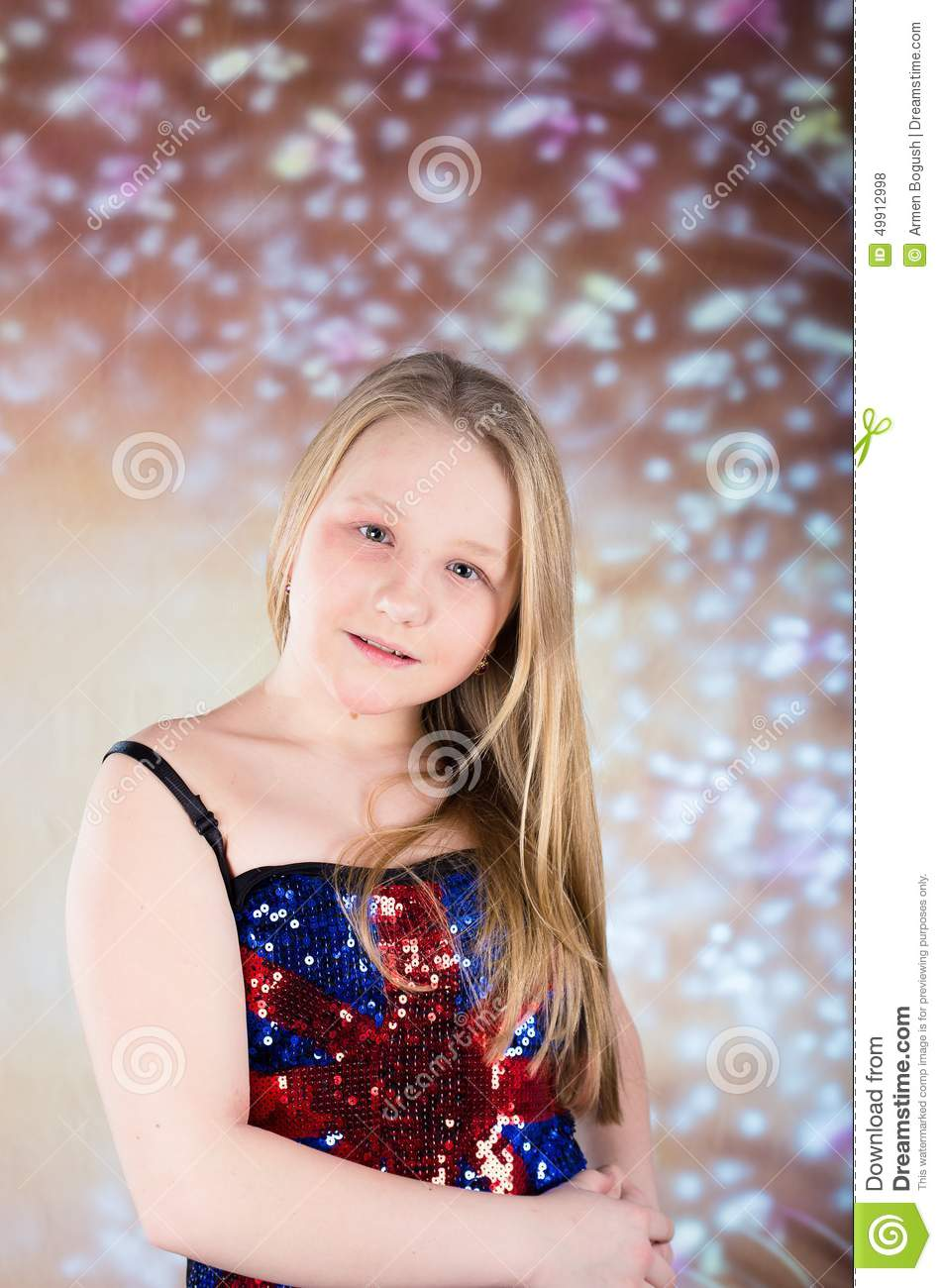 Beautiful Teen Girl In Party Dress With High Heels Stock Photo Image Of Cheerful Heel 49912998
