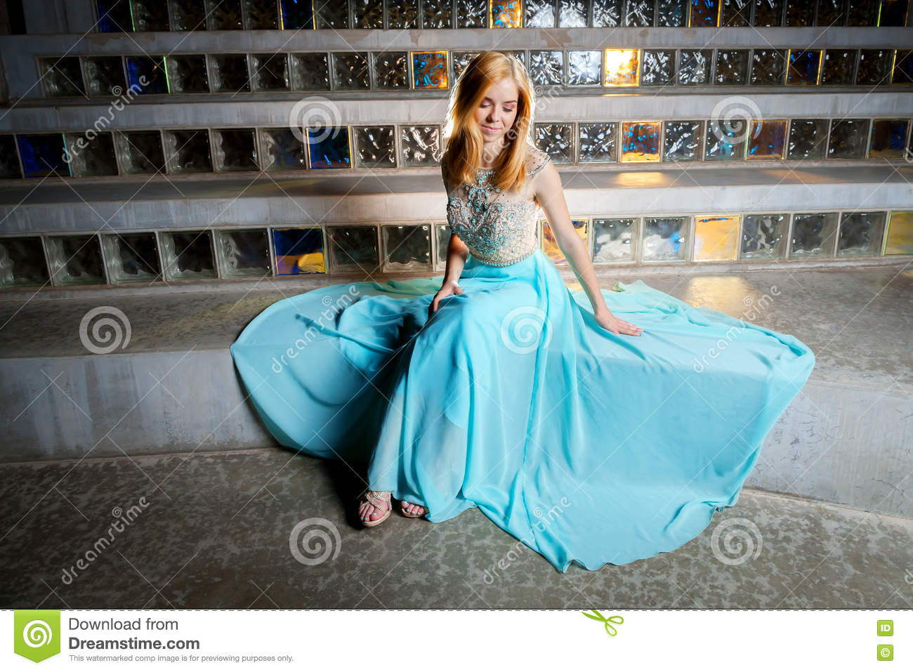 Beautiful Teen Girl In Prom Dress Stock Image - Image of caucasian ...
