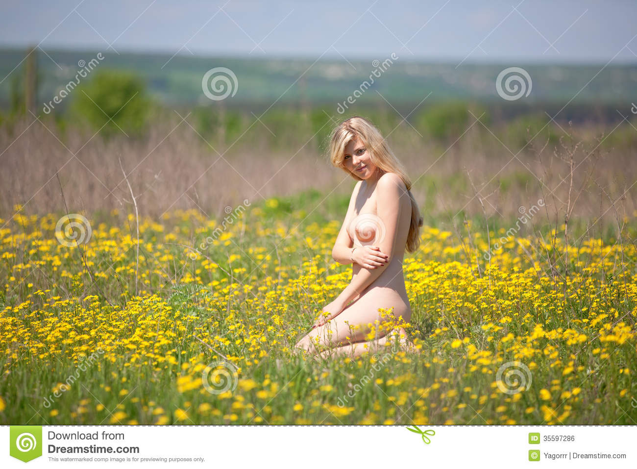 Nude In Field 12