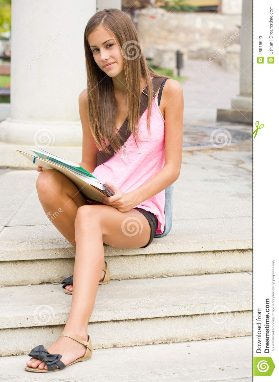 Beautiful Teen Student Girl. Stock Photos - Image: 26919923 on Beautiful Teen Girl  id=55807
