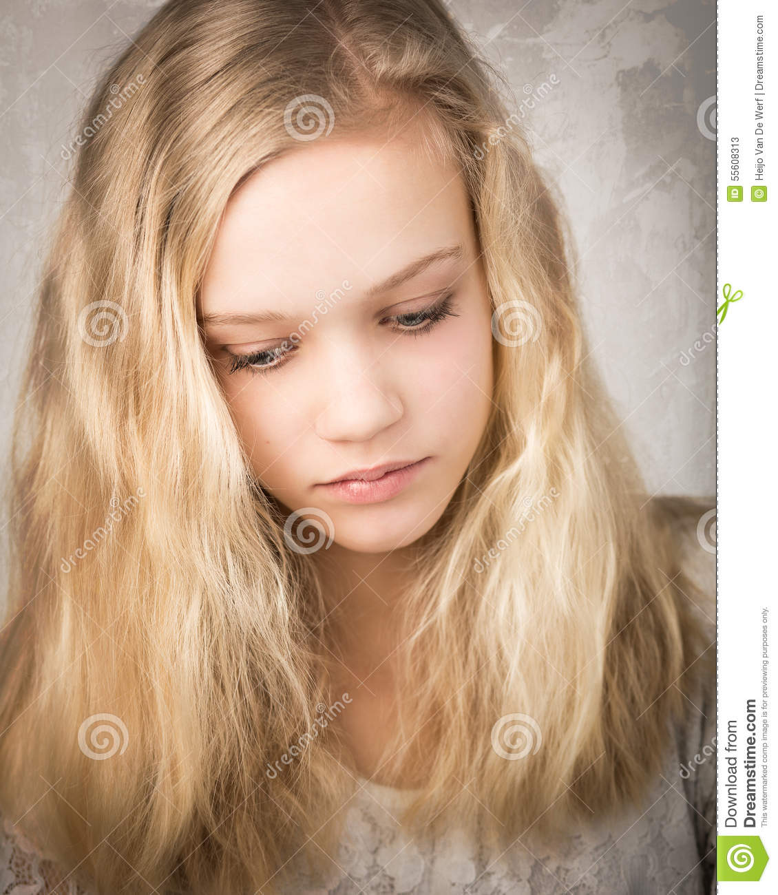 Beautiful Blonde Girl With Long Hair Stock Photo - Image of hair, enjoyment: 28098754