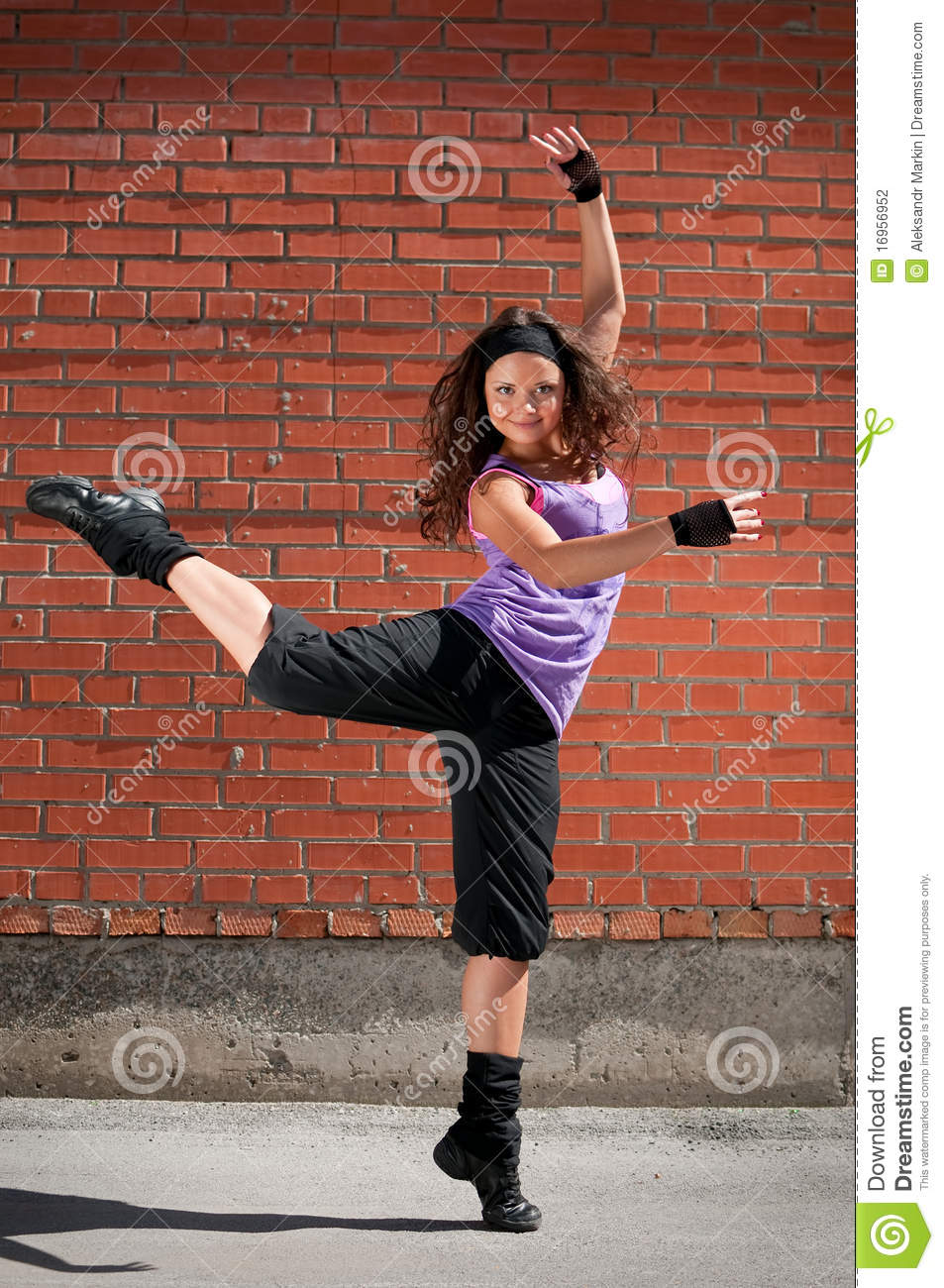 Beautiful Teenage Girl Hip-Hop Stock Photography - Image -2949