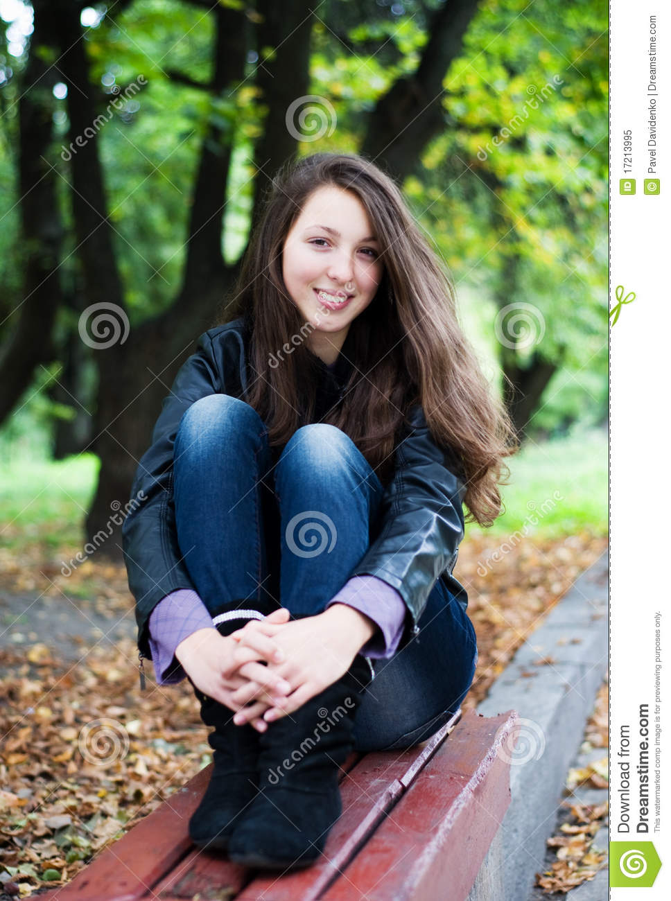 Pretty Female Model Outdoors Poses Stock Images, Royalty
