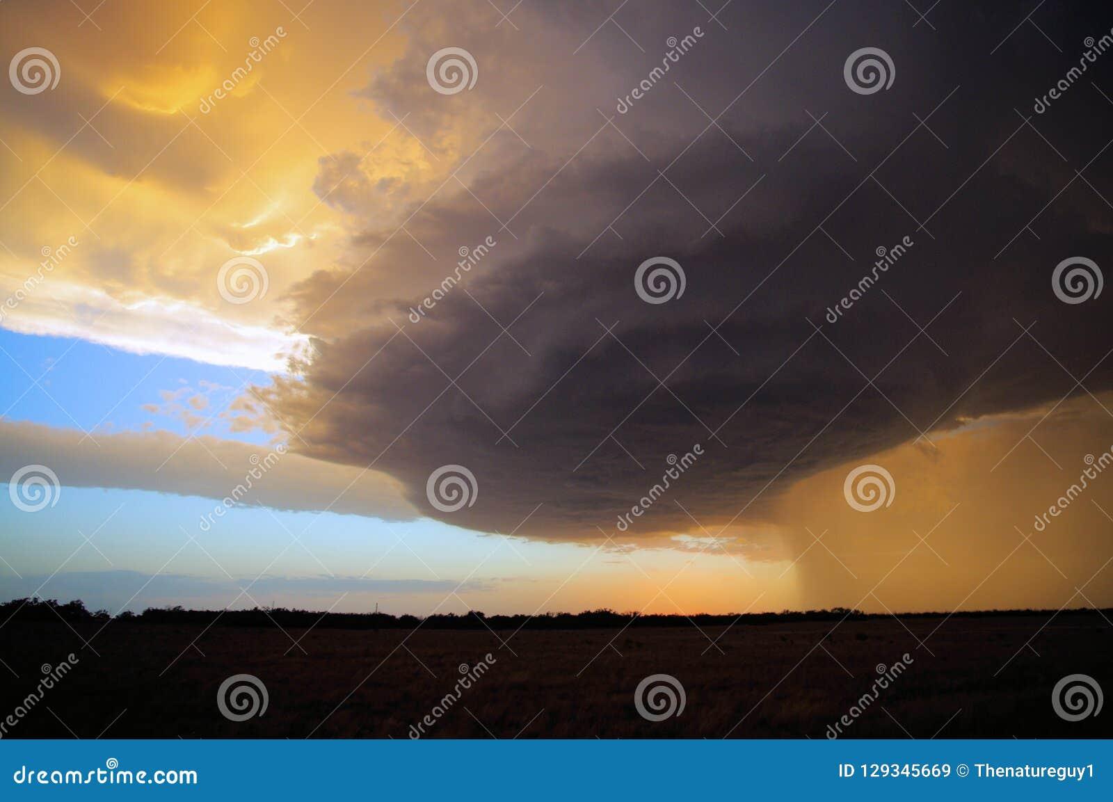 Beautiful Texas Prairie Supercell Storm
