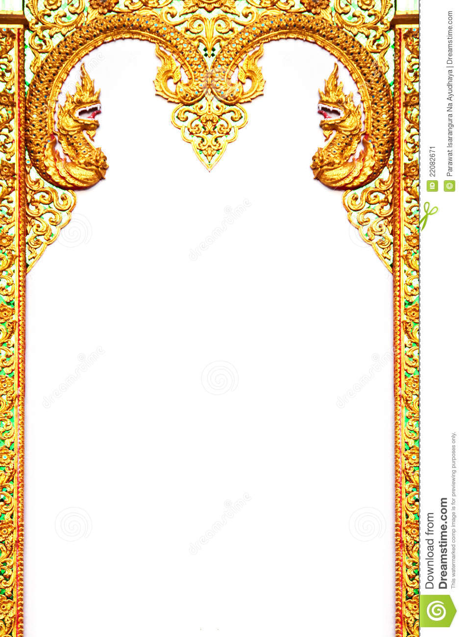Beautiful Thai Art Frame Stock Image Image Of Design