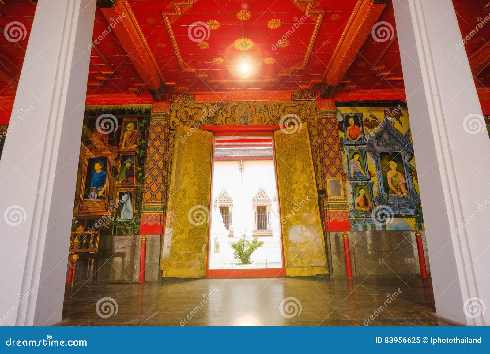 Editorial Stock Photo & Beautiful Thai Door Murals Art Architecture Of Main Ordination ... Pezcame.Com