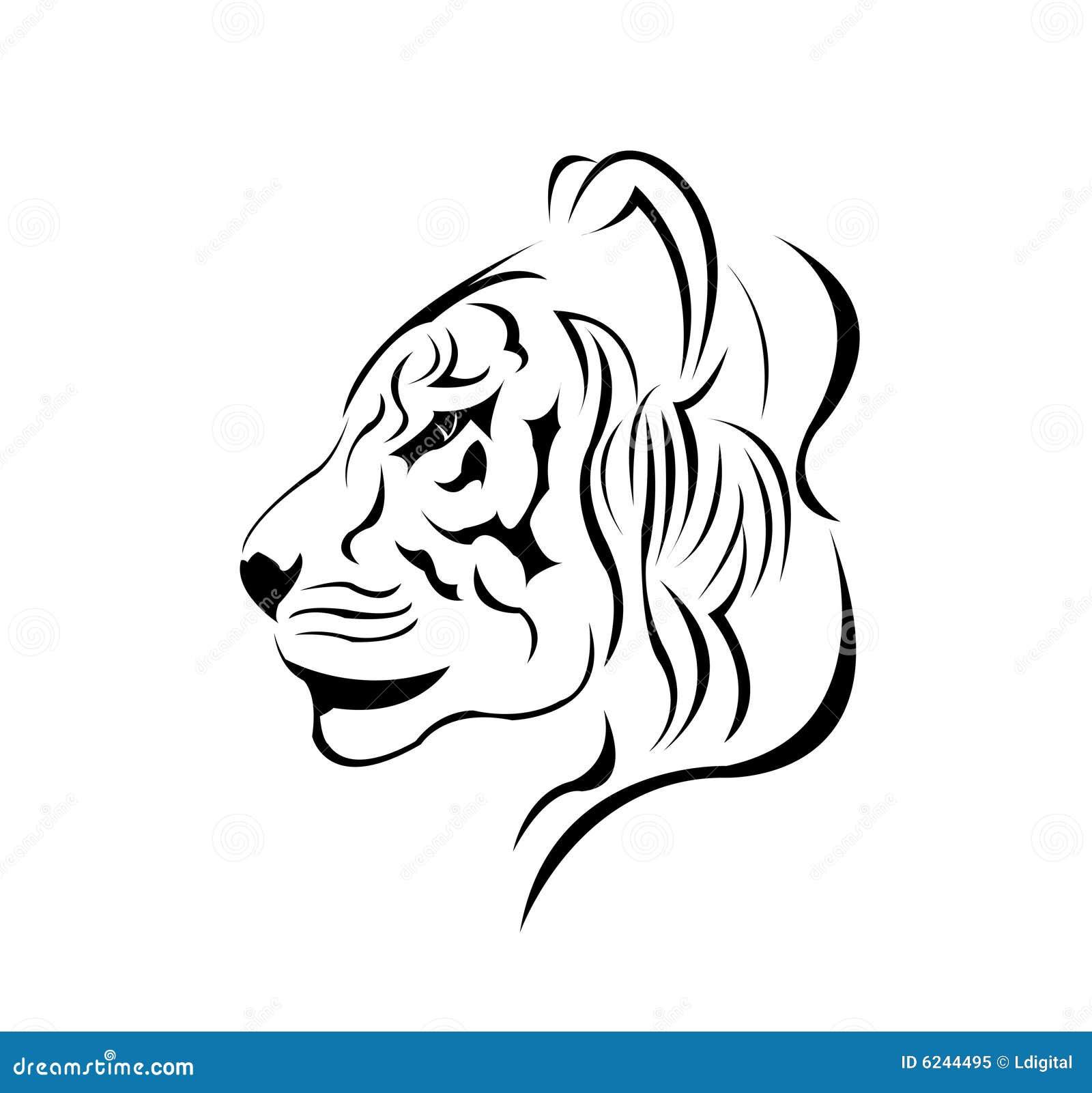 A beautiful tiger tattoo design vector stock vector for Immagini tigre da colorare