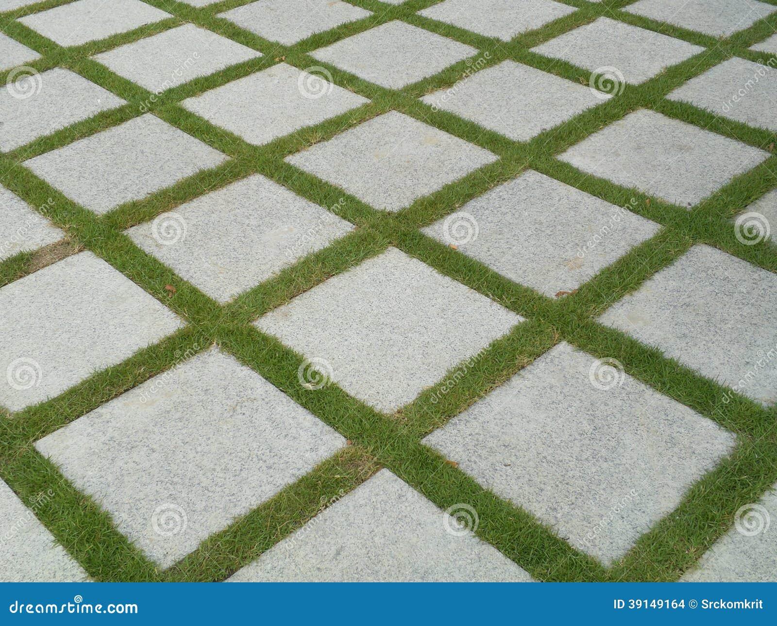 download beautiful tiles in garden stock photo image of lawn 39149164 - Garden Tiles