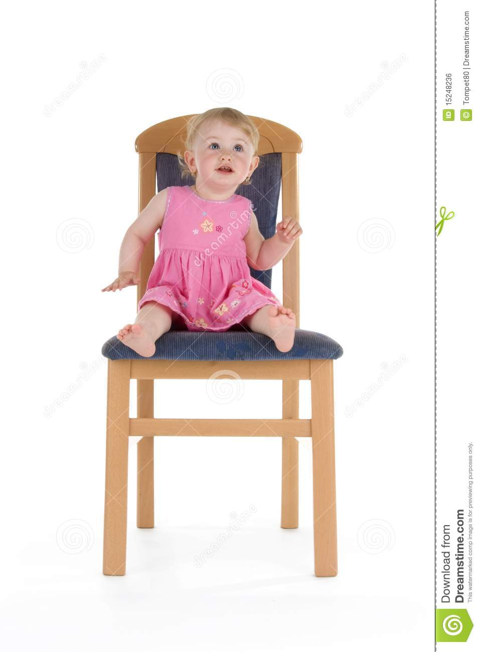 Beautiful toddler in rhythm royalty free stock image for Toddler sitting chair
