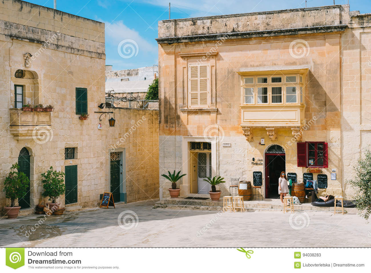 beautiful town square of mdina malta editorial stock photo image rh dreamstime com