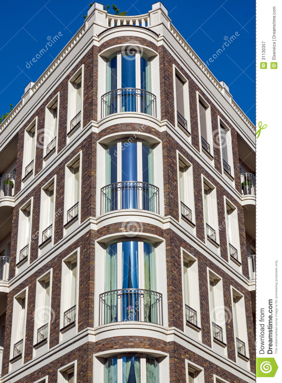 Beautiful townhouse in berlin royalty free stock for Townhouse architectural styles