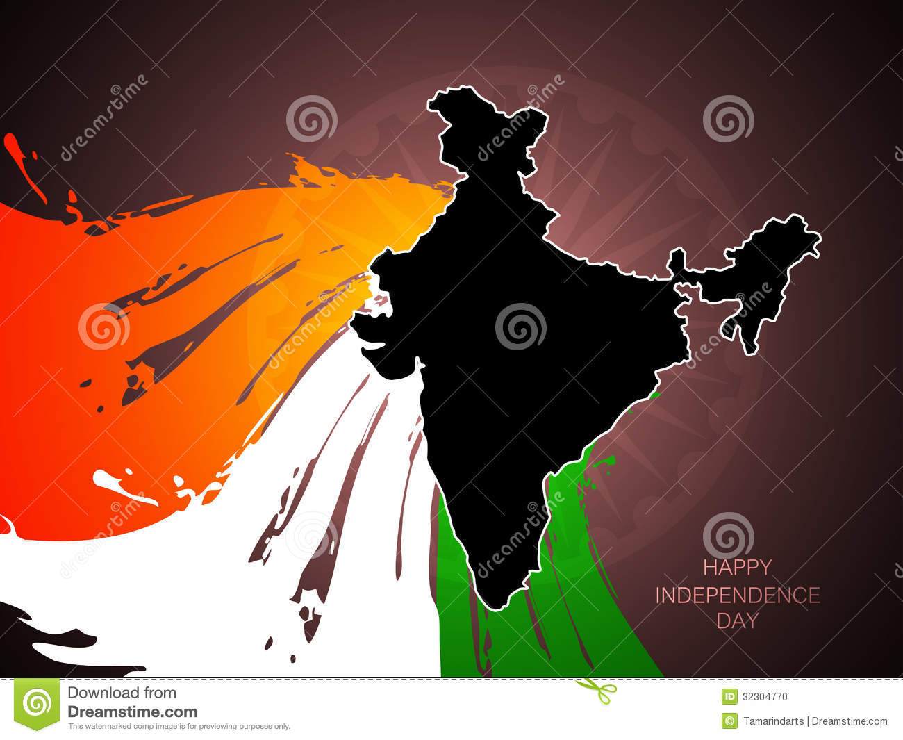 Indian Flag Theme: Beautiful Tricolor Indian Flag Theme Background De Stock