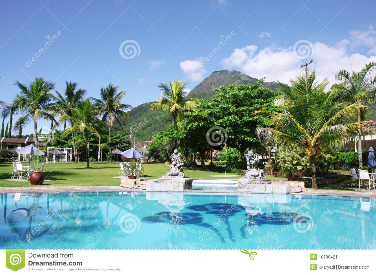 Beautiful Tropical Swimming Pool Stock Image Image 10780421