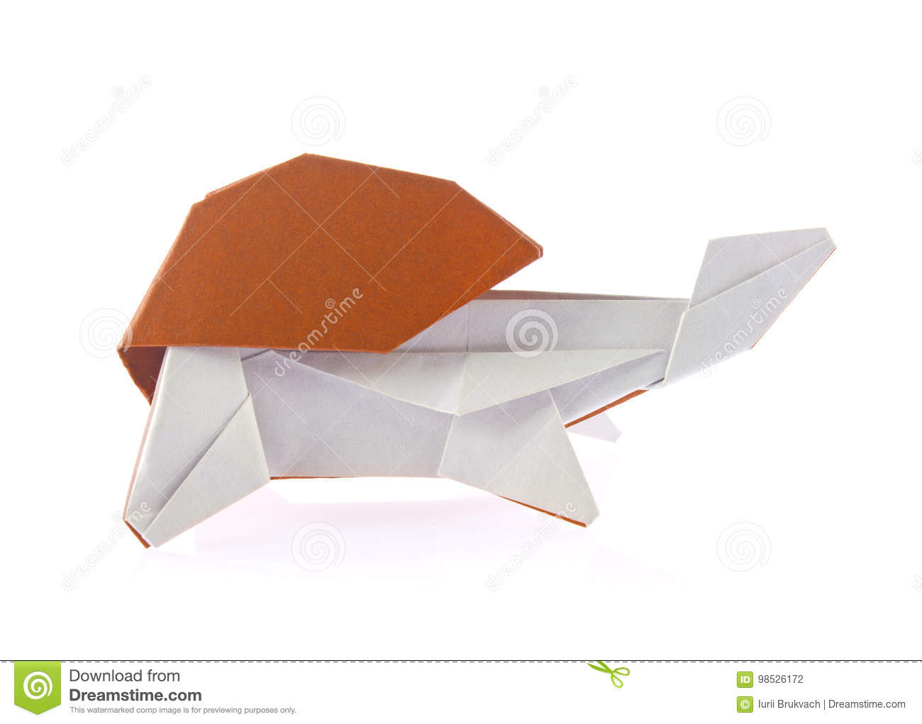 Beautiful Turtle Of Origami Stock Photo Image Of Land Tortoise