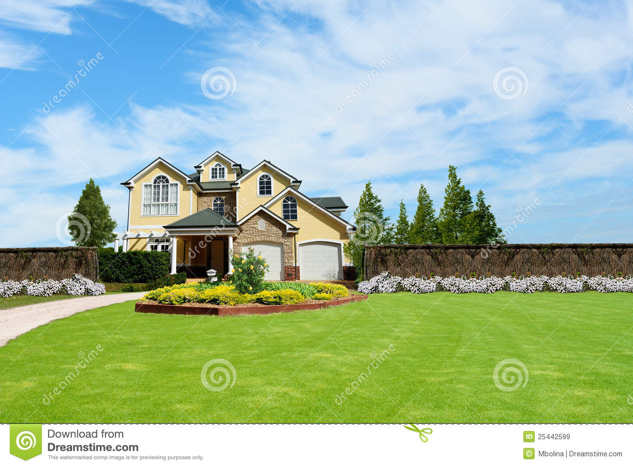 Beautiful two story country house stock image image for Country house online