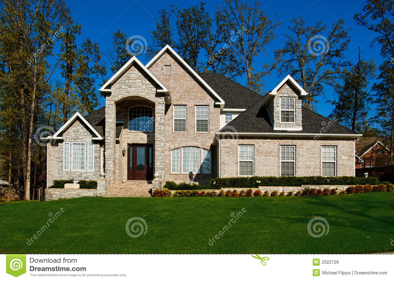 Beautiful two story home royalty free stock photos image for Pretty two story houses
