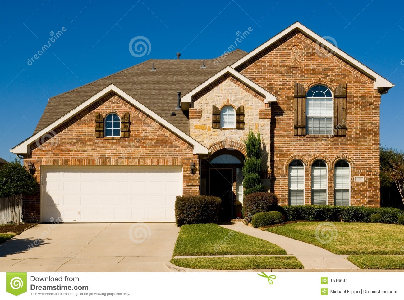 Beautiful two story home property stock photography for Beautiful two story homes