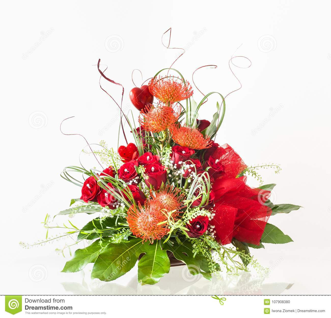 Beautiful Valentines Day Flower Arrangement Stock Photo Image Of