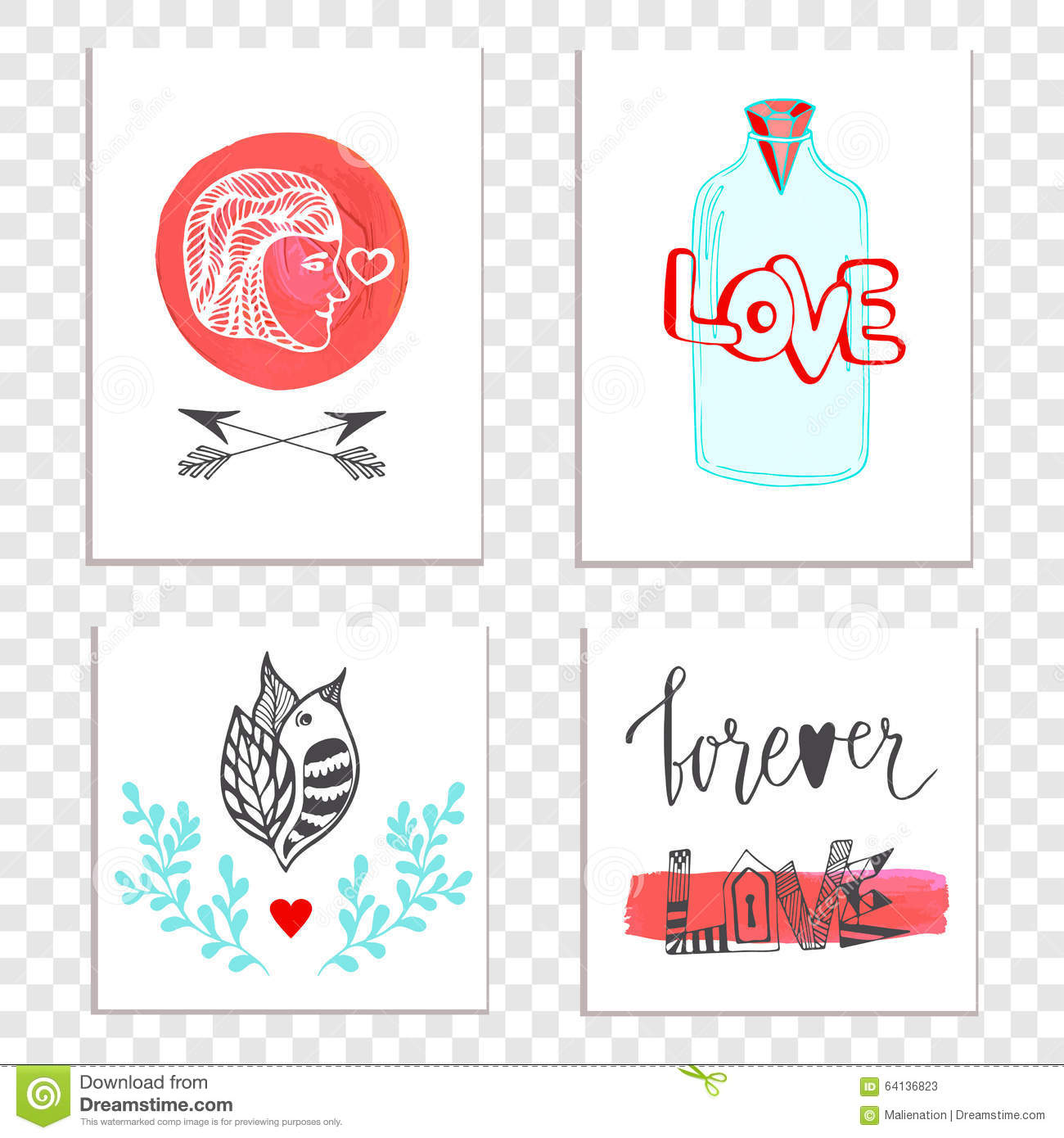 Beautiful Valentines Day Cards With Hand Drawn Lettering – Beautiful Valentines Day Cards