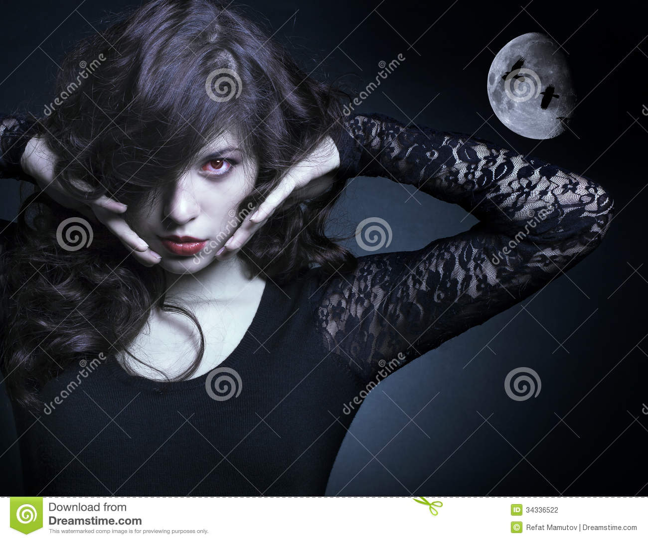 Beautiful Vampire Woman Photography