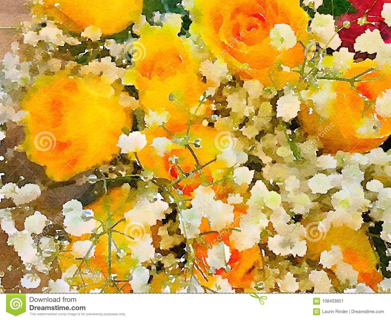 A Beautiful Vase Of Flowers Stock Image Image Of Palette Brown