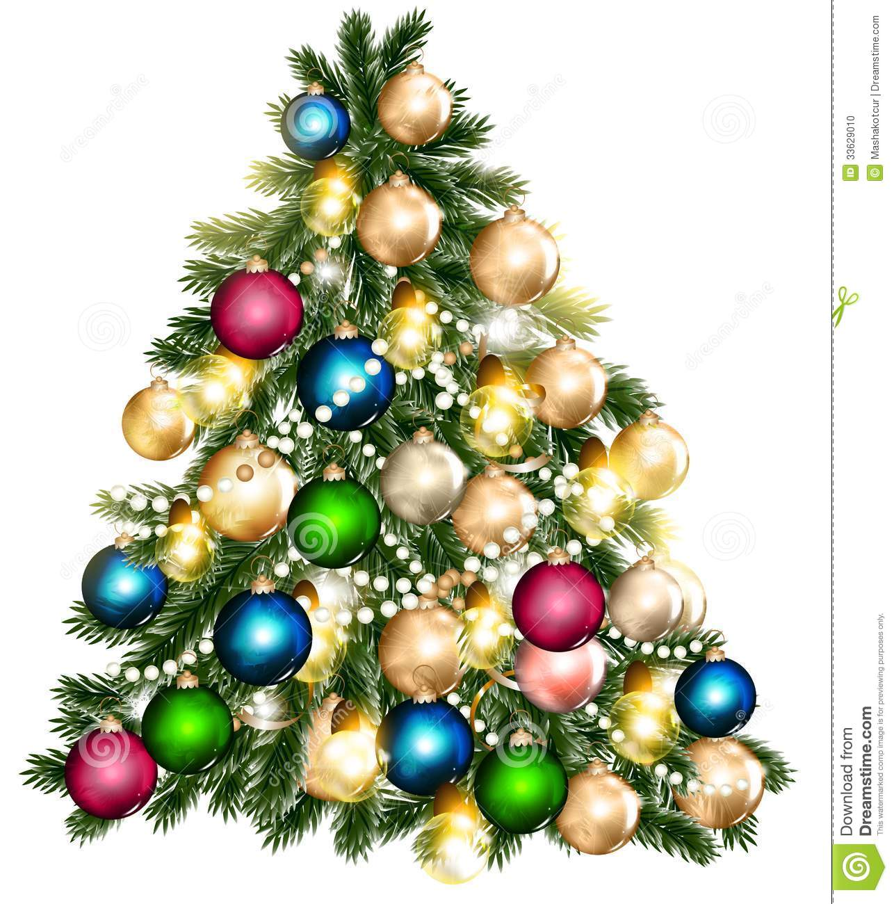 Beautiful Vector Christmas Tree For Design Stock Vector