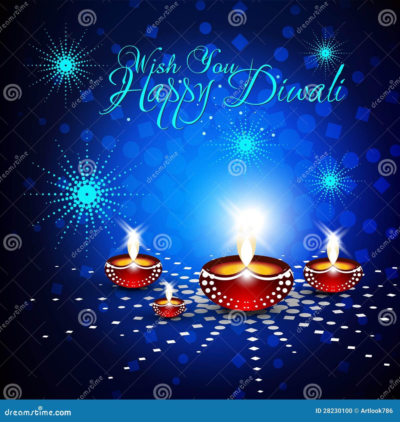 Beautiful Vector Diwali Card Stock Vector Illustration Of Diwali