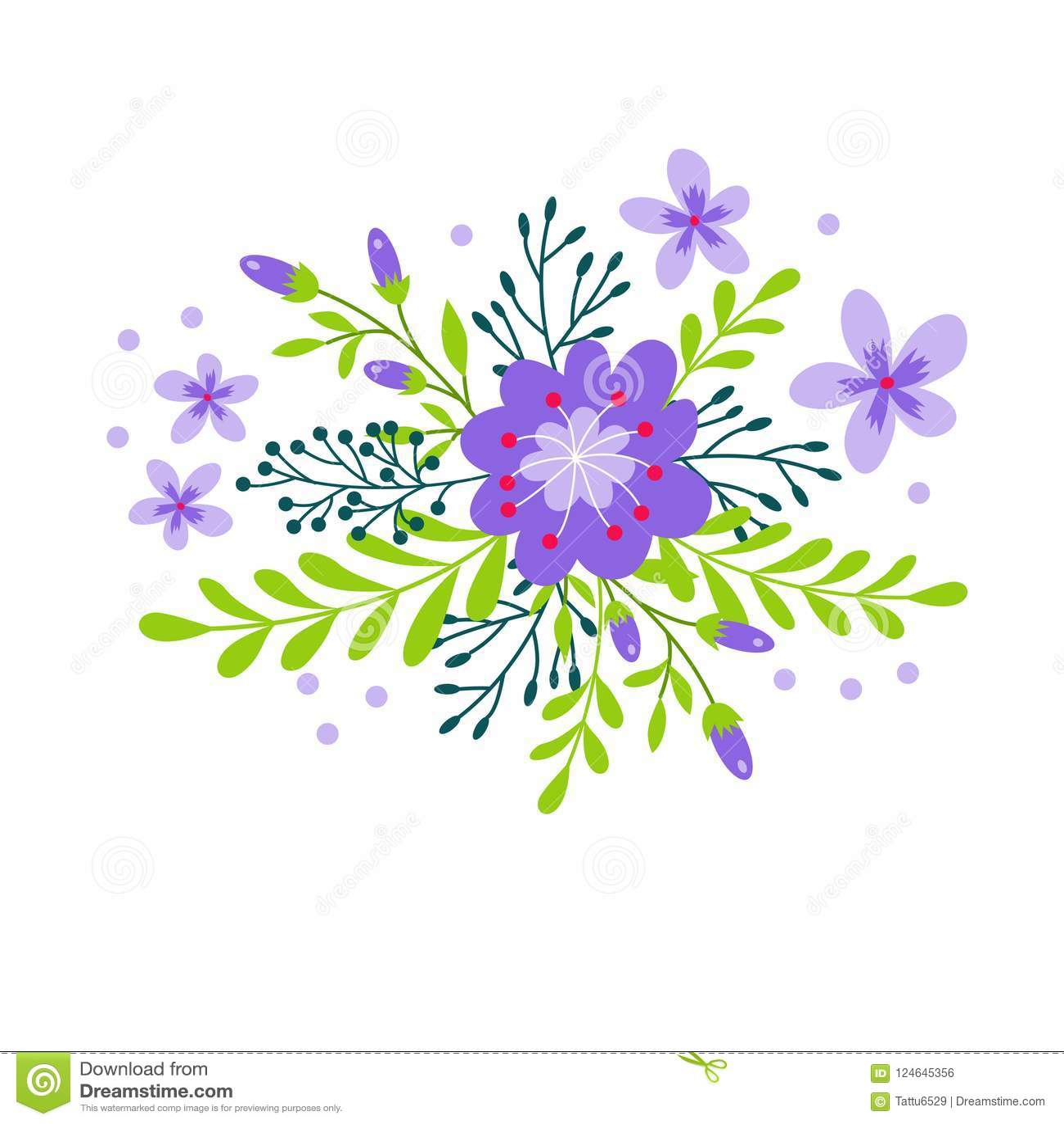 Cute bouquet of decorative flower stock illustration illustration download cute bouquet of decorative flower stock illustration illustration of leave background 124645356 izmirmasajfo
