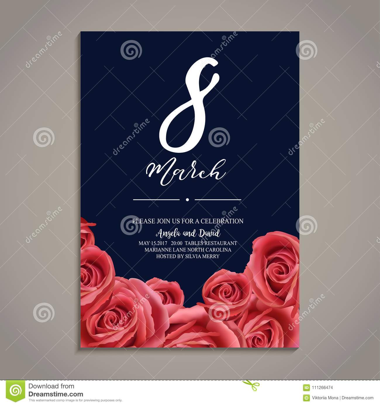 Beautiful vector illustration on march international women s day beautiful vector illustration on 8 march international women s day spring flowers template for greeting cards m4hsunfo