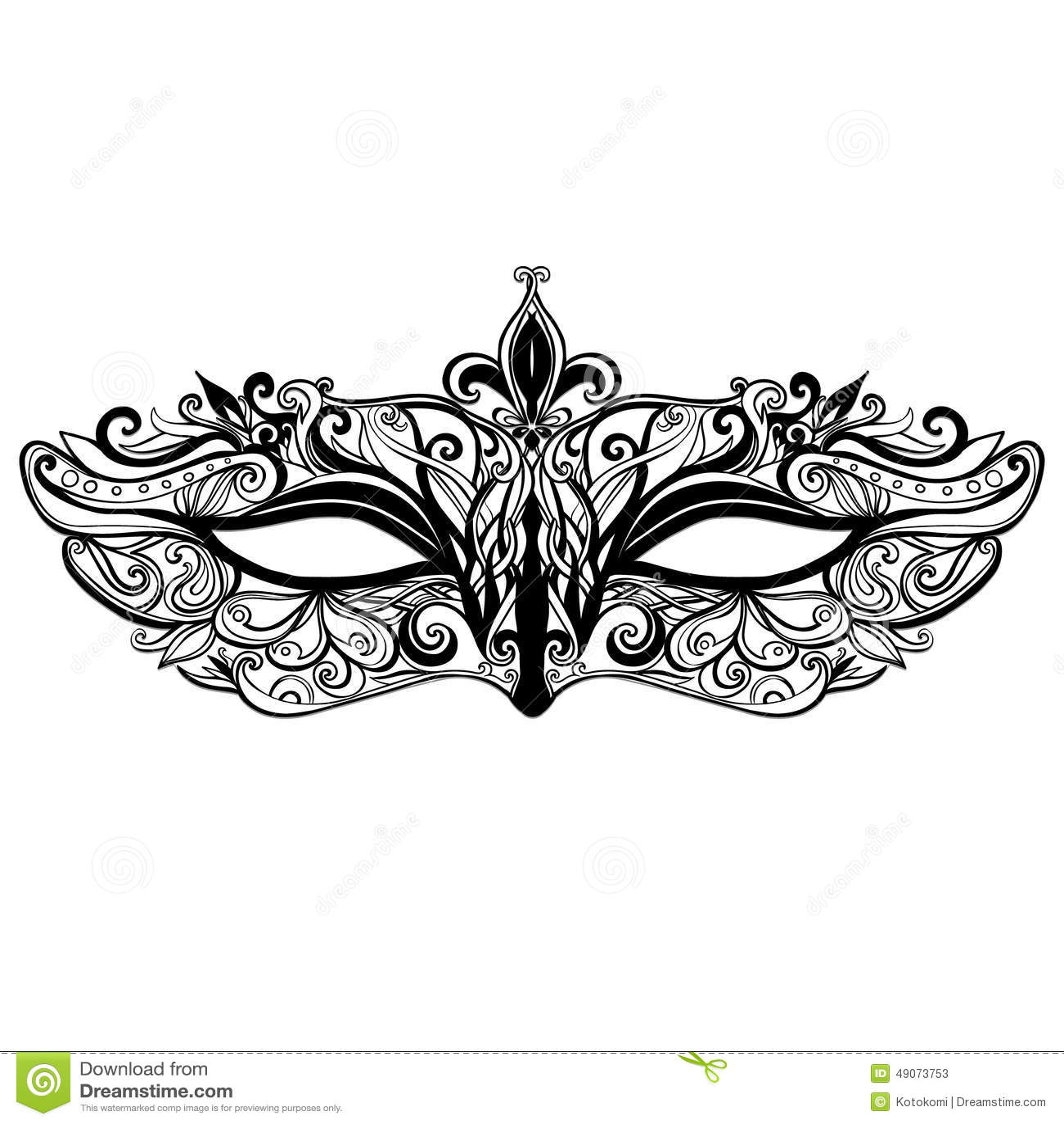 Beautiful Vector Mask Illustration Isolated On Stock ...
