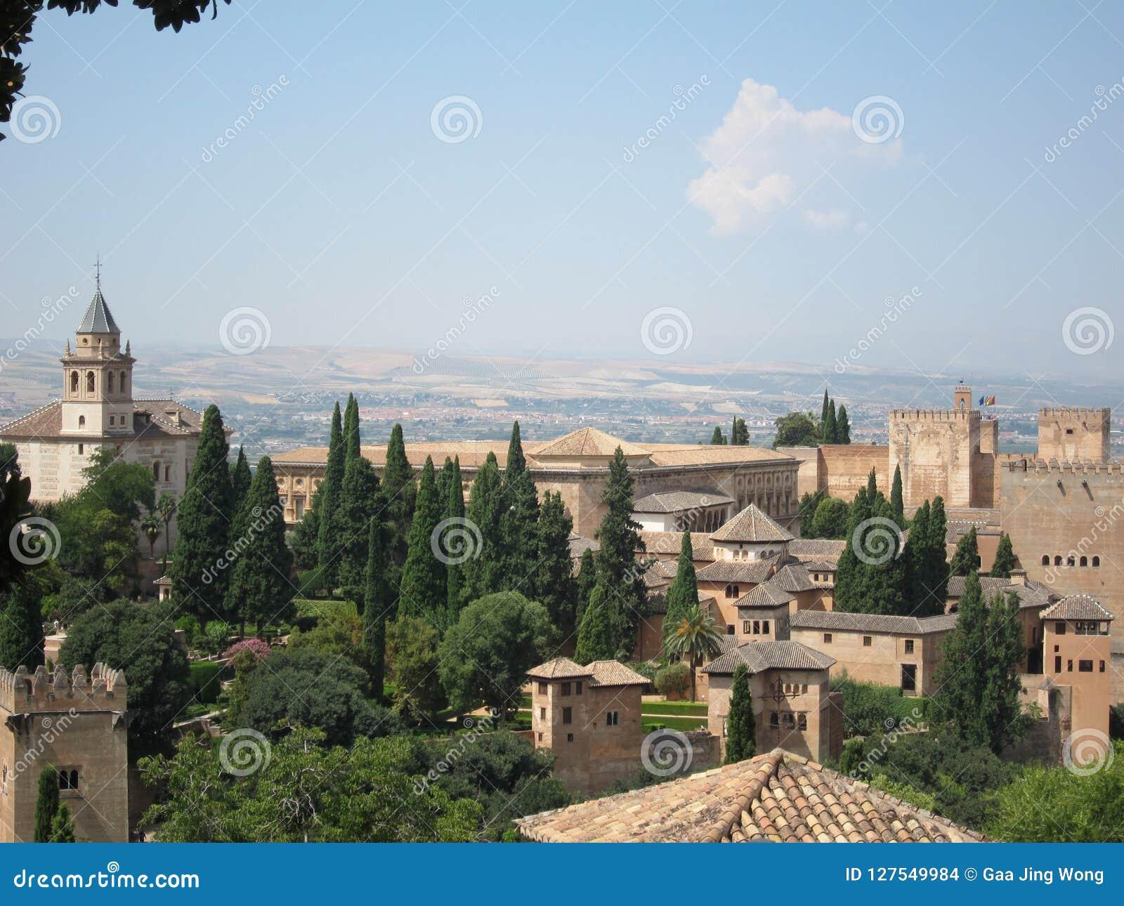 Alhambra at Granada, Spain