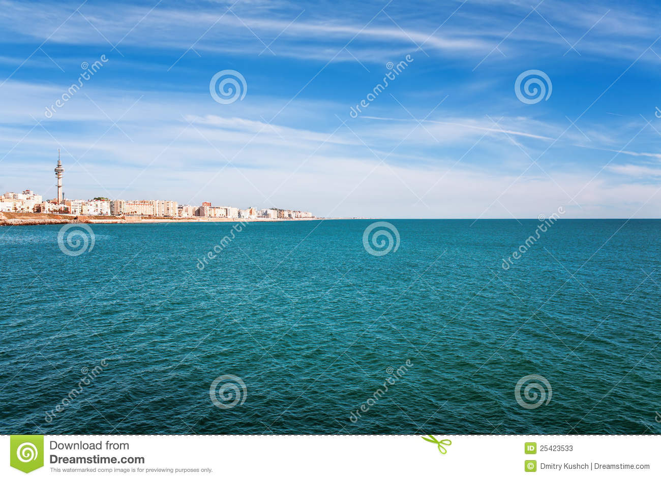 Beautiful View From Beach To Ocean Stock Photos Image