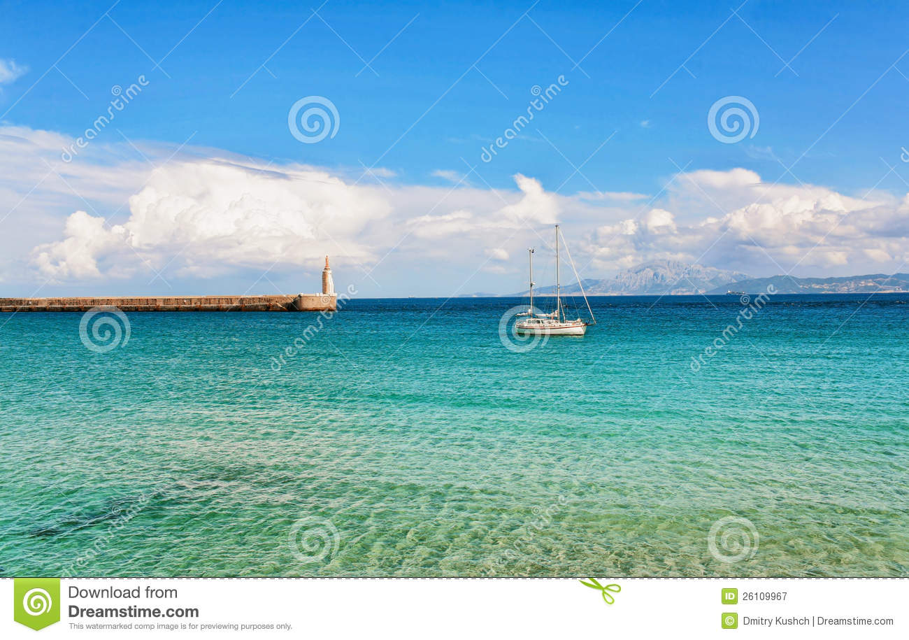 Beautiful View From Beach To Ocean Royalty Free Stock