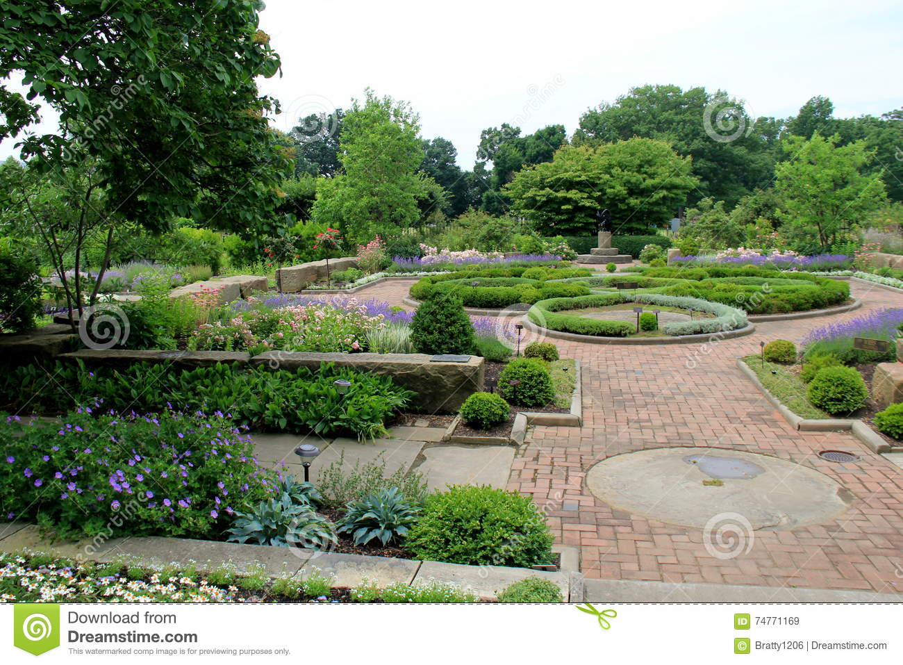 beautiful view of colorful garden with manicured lawns cleveland botanical gardens ohio 2016