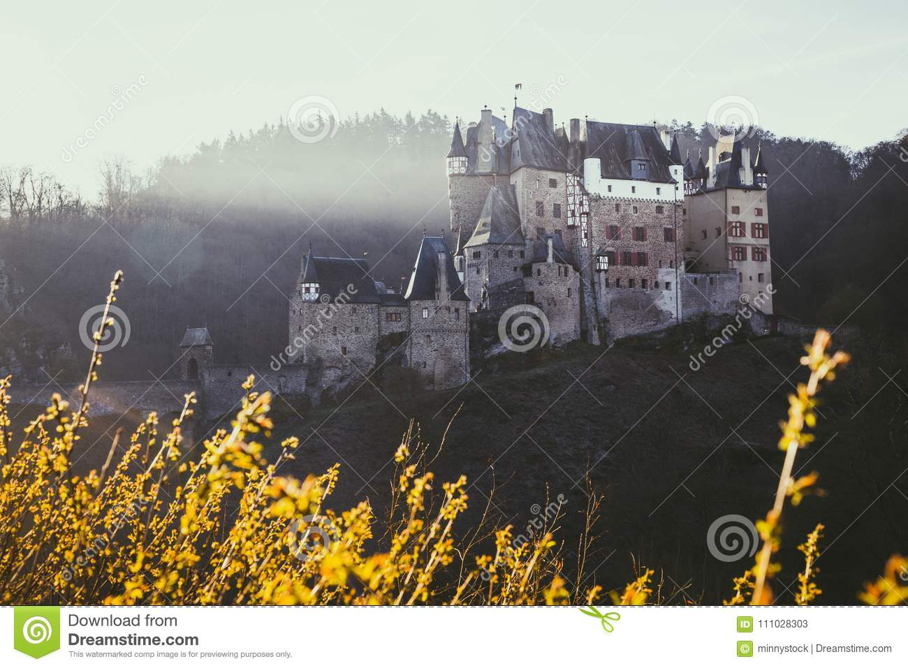 Eltz Castle at sunrise, Rheinland-Pfalz, Germany
