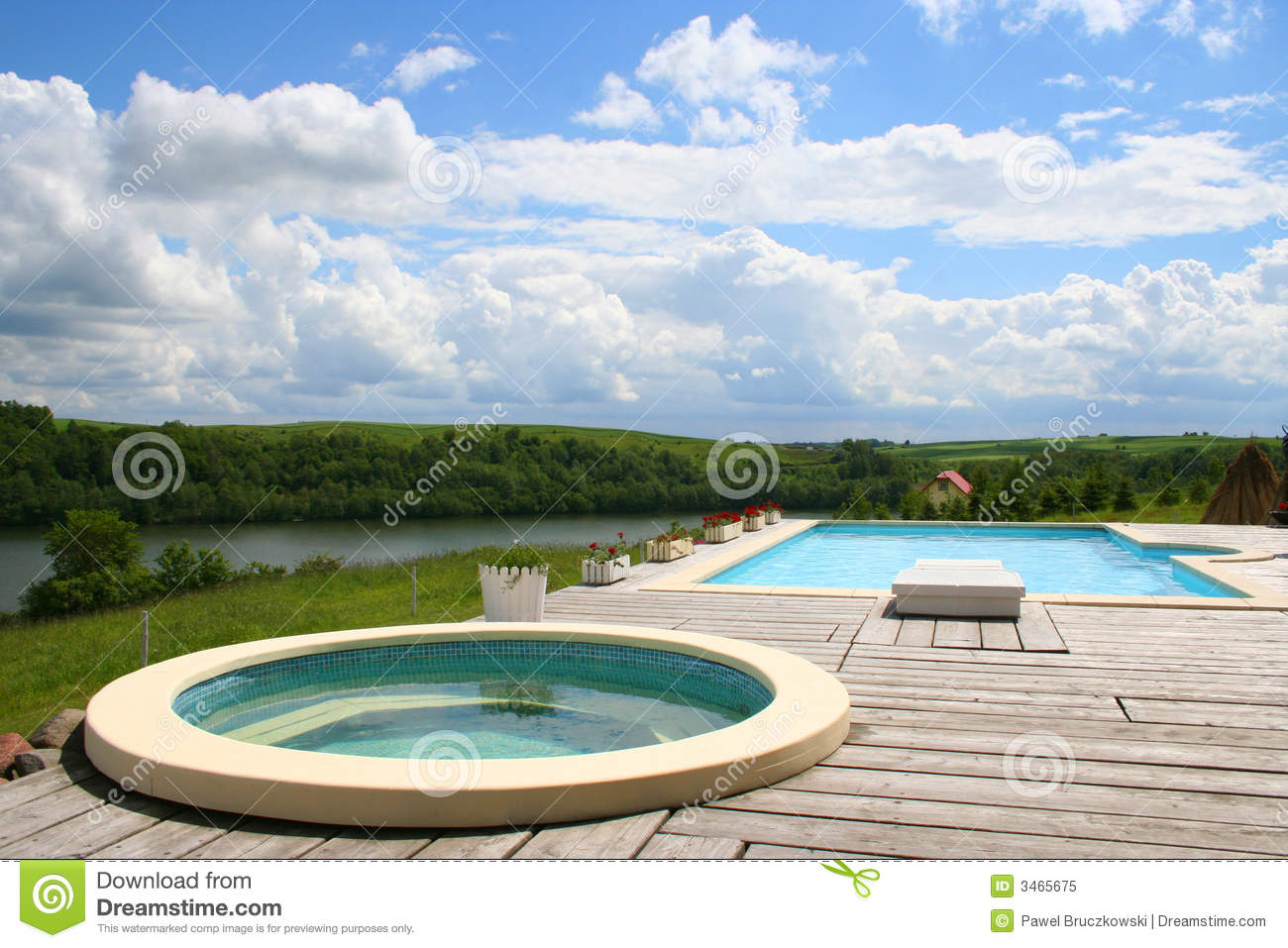 Beautiful view from a jacuzzi