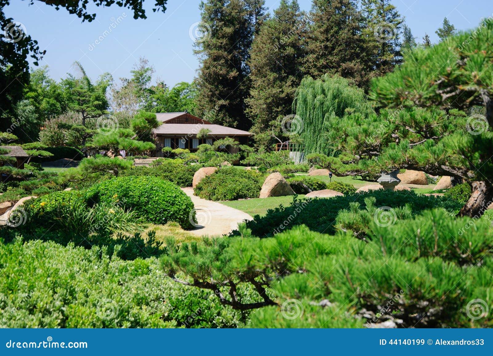 Beautiful View Of Japanese Garden Stock Photo Image 44140199