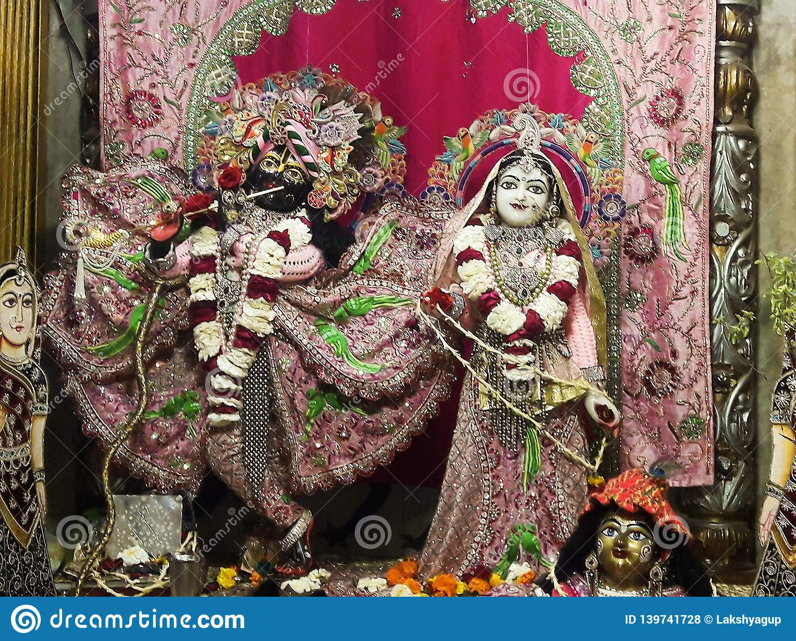 This Is The Photo Of Lord Krishna With Radha    Stock Photo