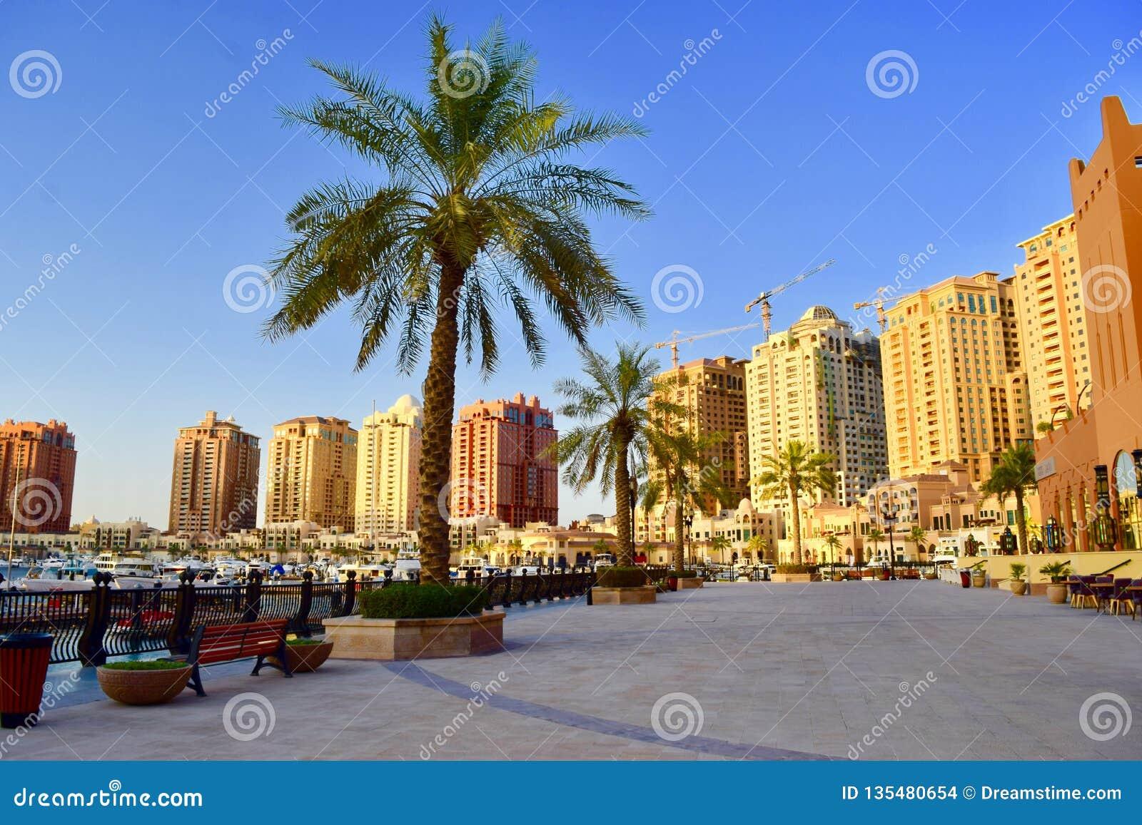 Beautiful view pf The Pearl Qatar