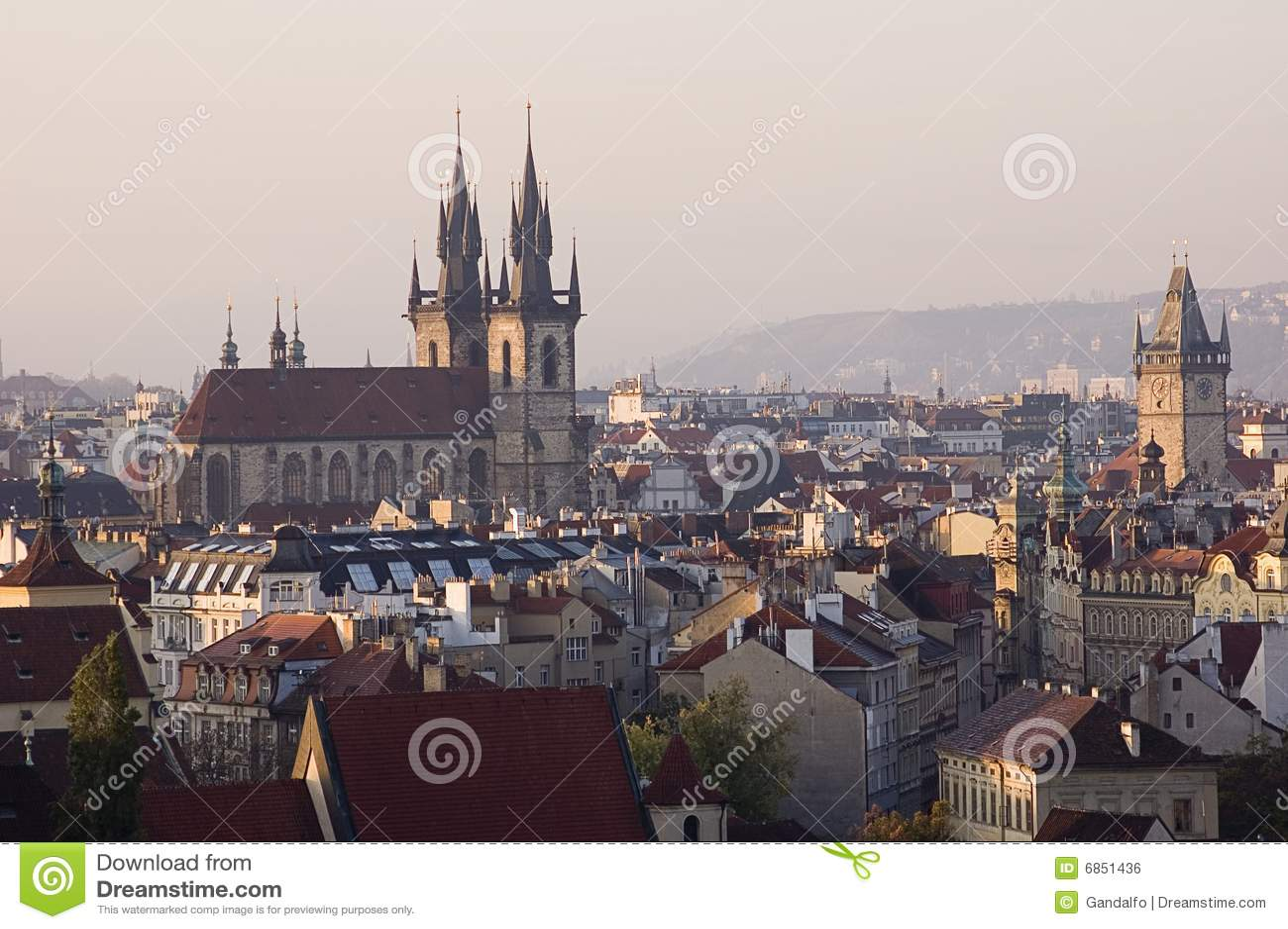 Beautiful view of prague in czech republic stock photo for Prague beauty