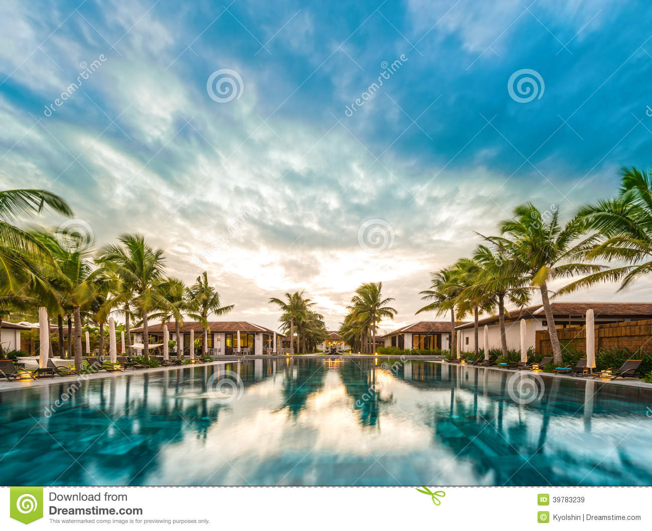 Beautiful view of resort in vietnam asia stock photo for Beautiful house view