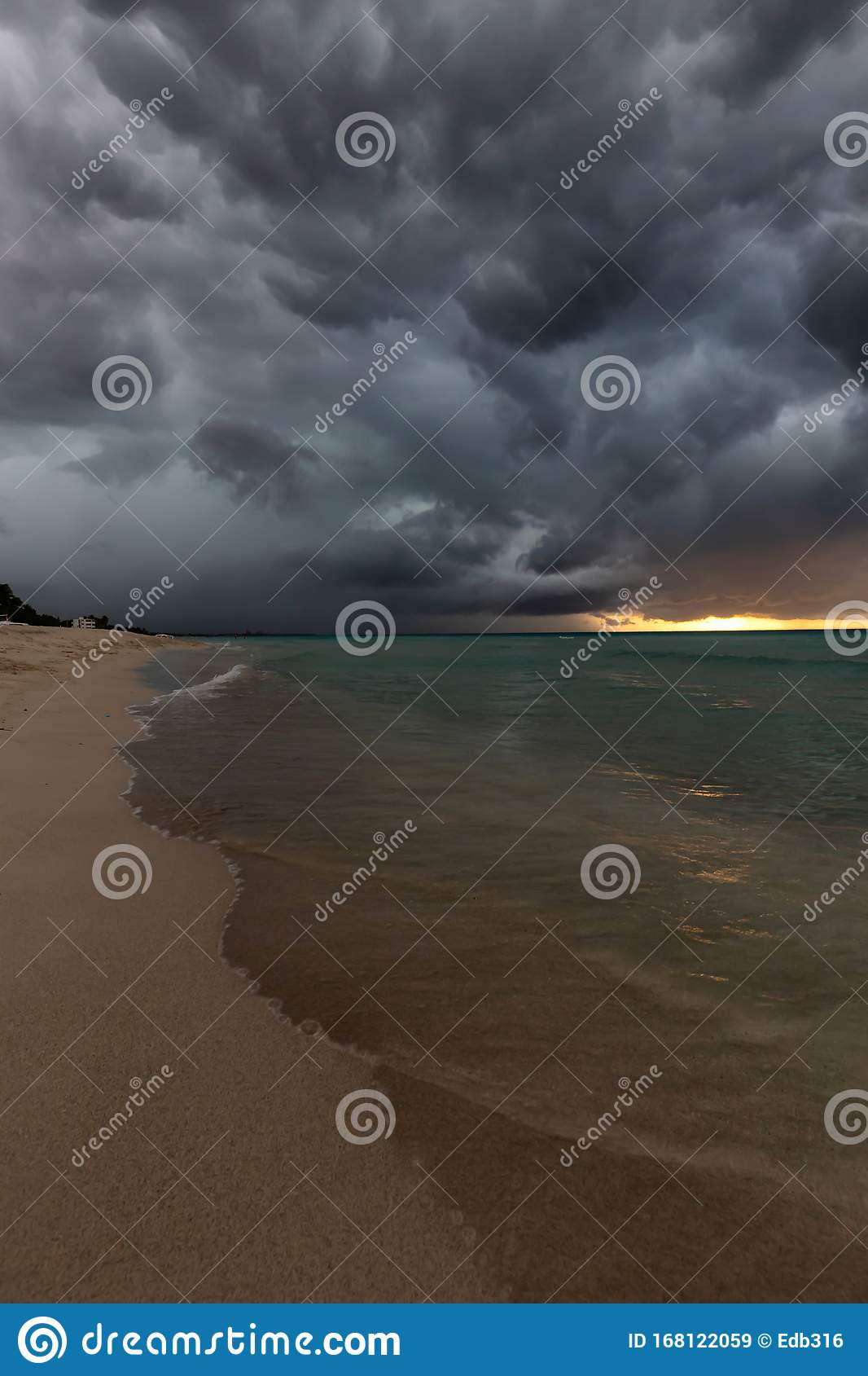 Stormy Weather On The Beach In Varadero, Cuba Stock Image