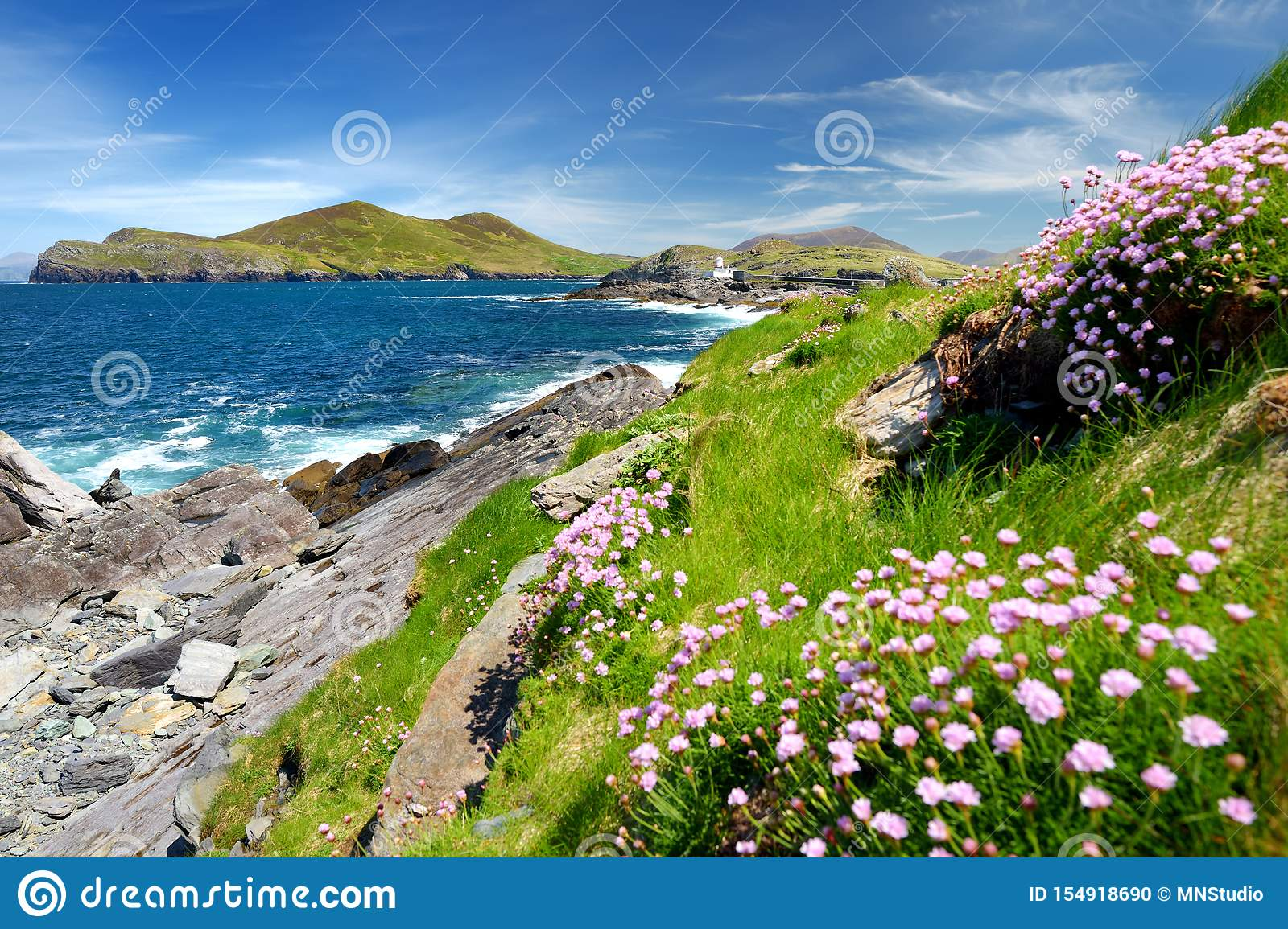 Beautiful View Of Valentia Island Lighthouse At Cromwell ...