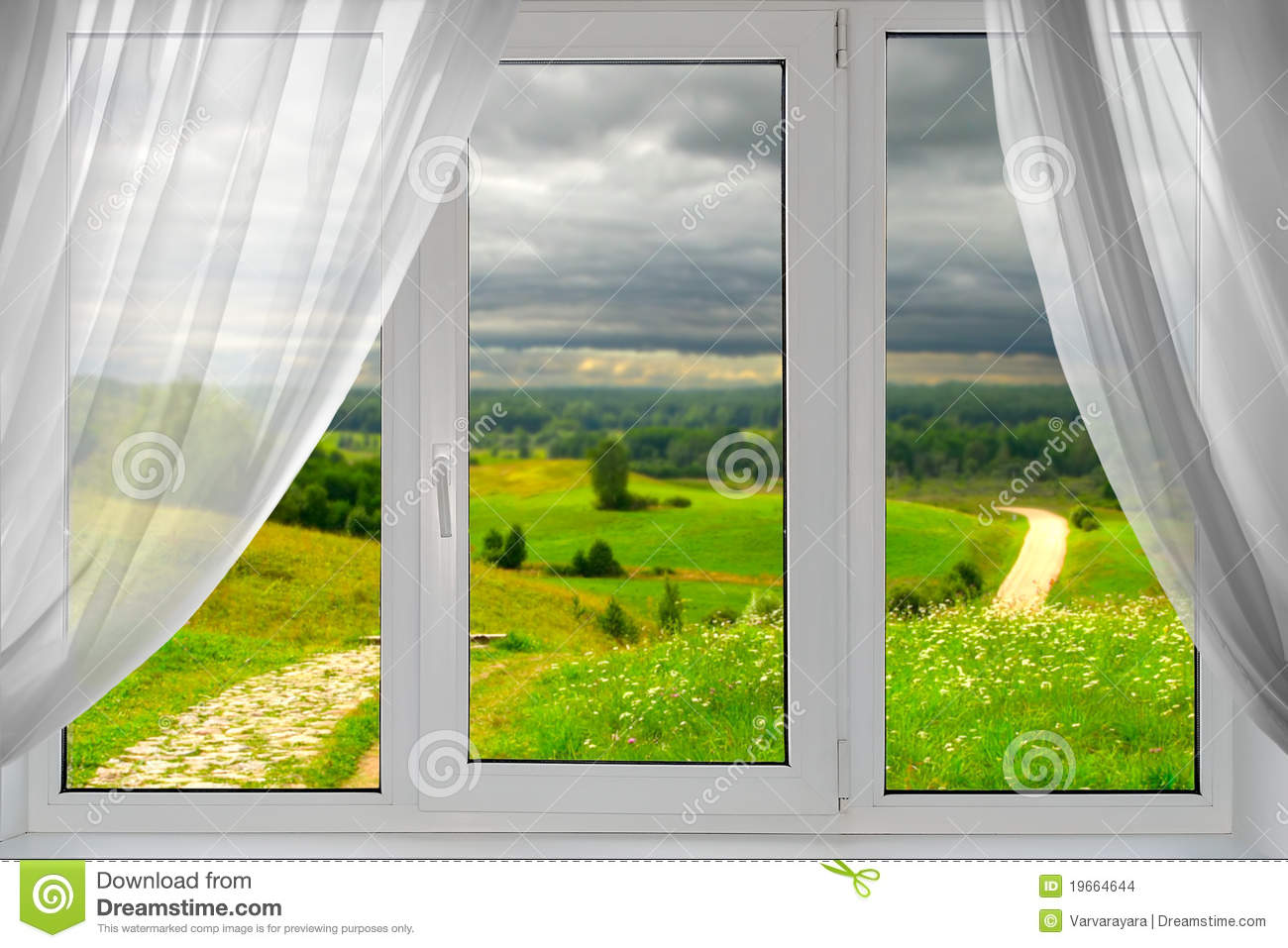 Beautiful View From The Window Stock Images - Image: 19664644